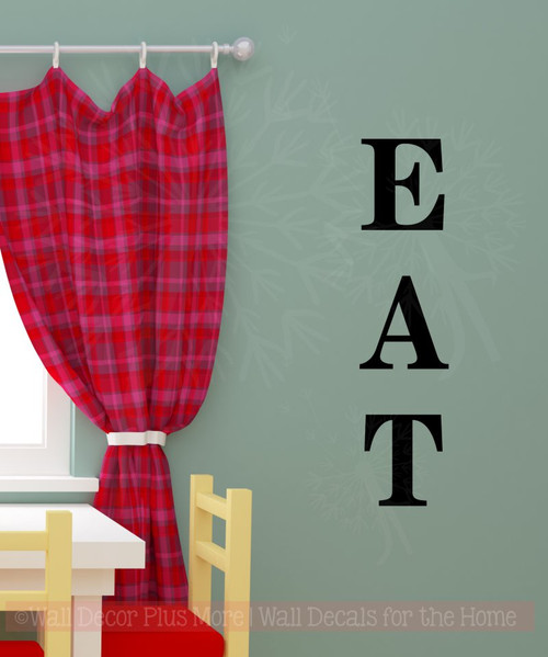 eat basic letters sticker kitchen wall decor vinyl lettering wall art decals black