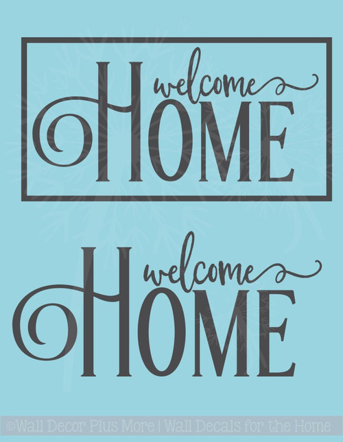 Welcome Home Family Wall Decals Vinyl Letters Modern Wall Stickers