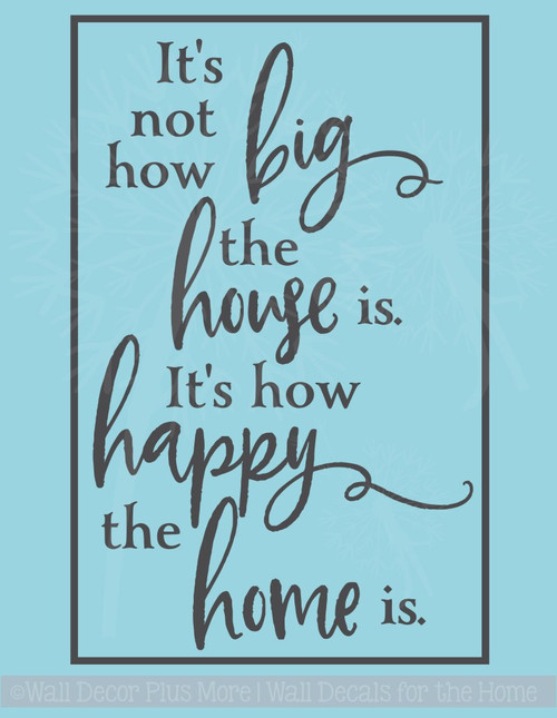 How Happy the Home Is Wall Decals Vinyl Lettering Family Home Decor