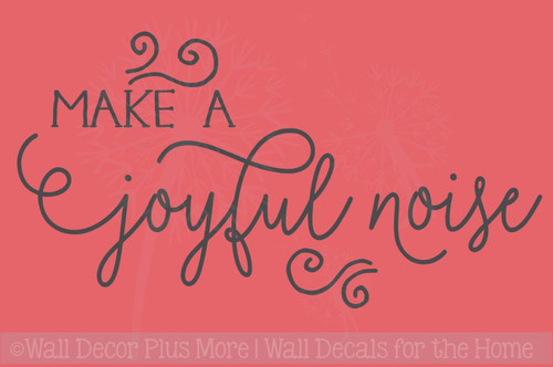 Make A Joyful Noise Holiday Vinyl Lettering Christmas Wall Decals