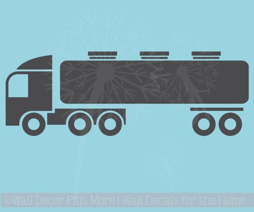 Truck Tanker Boys Bedroom Decor Vinyl Art Wall Decals Sticker Graphics