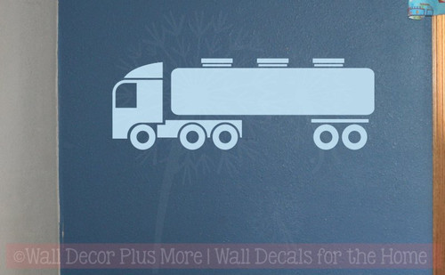 Truck Tanker Boys Bedroom Decor Vinyl Art Wall Decals Sticker Graphics-Powder Blue