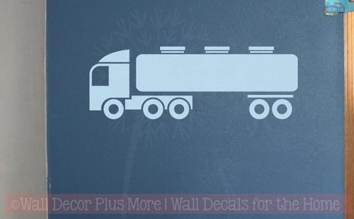 Truck Tanker Boys Bedroom Decor Vinyl Art Wall Decals Sticker Graphics-Powder Blue