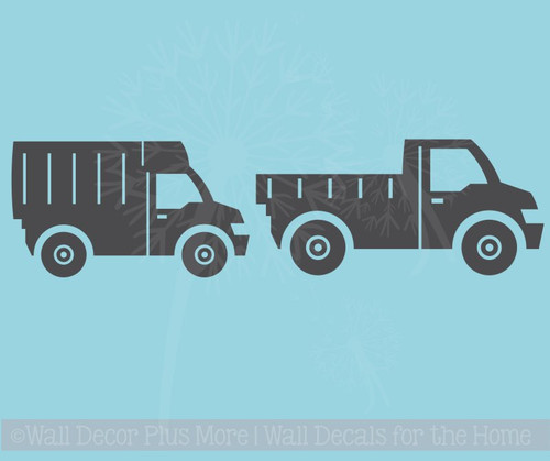Trucks Set of 2 Boys Room Vinyl Decals Wall Art Stickers Best Decor