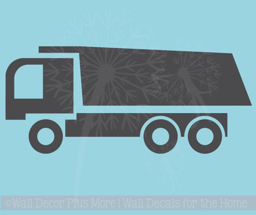 Dump Truck Vinyl Sticker Art Boy Bedroom Decor Wall Sticker Decals