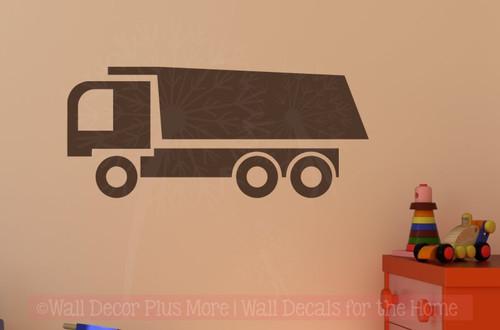 Dump Truck Vinyl Sticker Art Boy Bedroom Decor Wall Sticker Decals-Chocolate