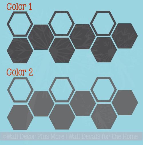 Honeycomb Hexagon Wall Sticker Shapes 2-Color Vinyl Decals Decor Art