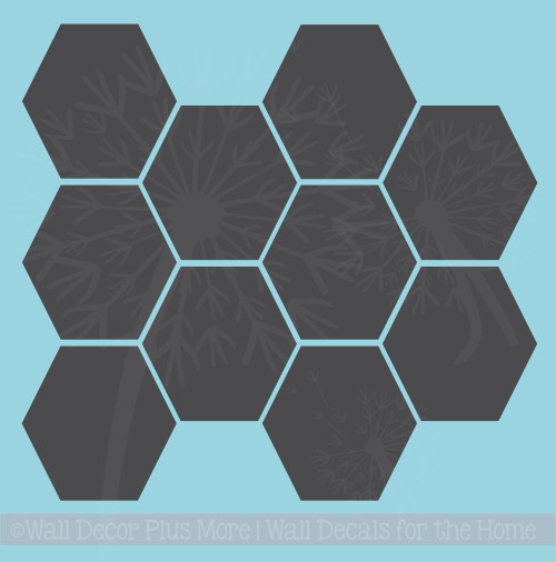 Hexagon Wall Stickers Shapes Vinyl Decals Honeycomb Art Décor 9inch