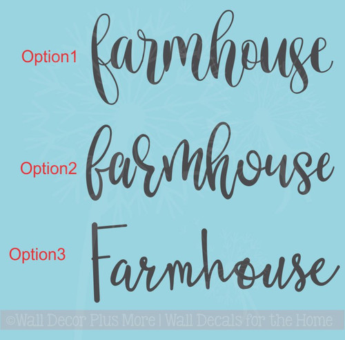 Farmhouse Lettering Vinyl Decals Wall Stickers Living Room Home Decor