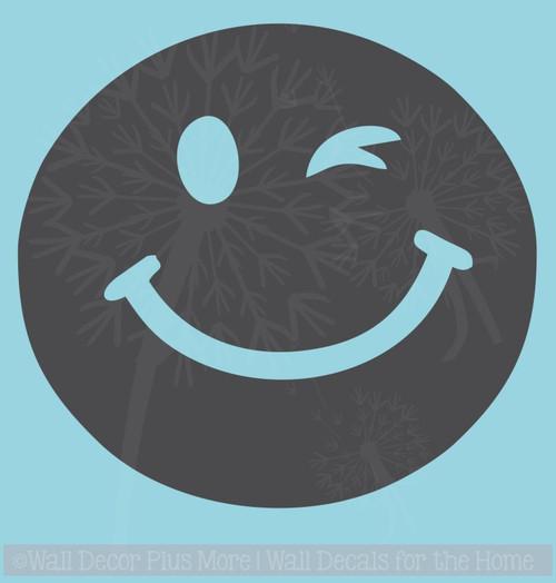 Smiley Wink Face Vehicle Stickers Vinyl Art Inspiring Car Window Decals