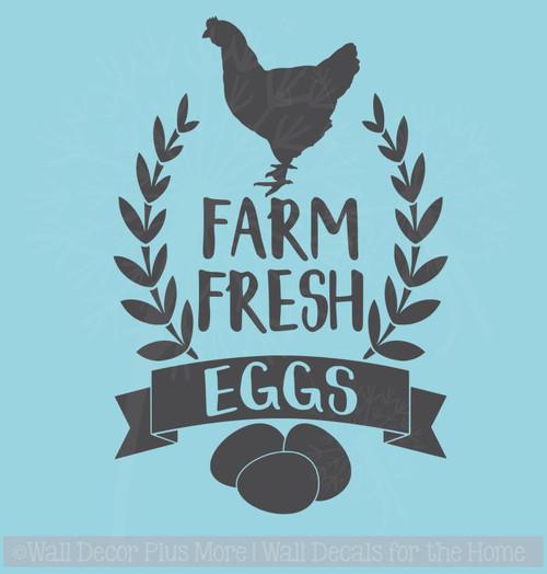 Farm Fresh Eggs Vinyl Art Decals Farmhouse Decor Wall Art Stickers