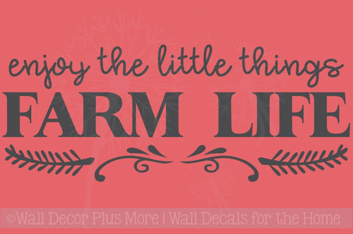 Enjoy Little Things Farm Life Farmhouse Wall Stickers Vinyl Lettering Décor