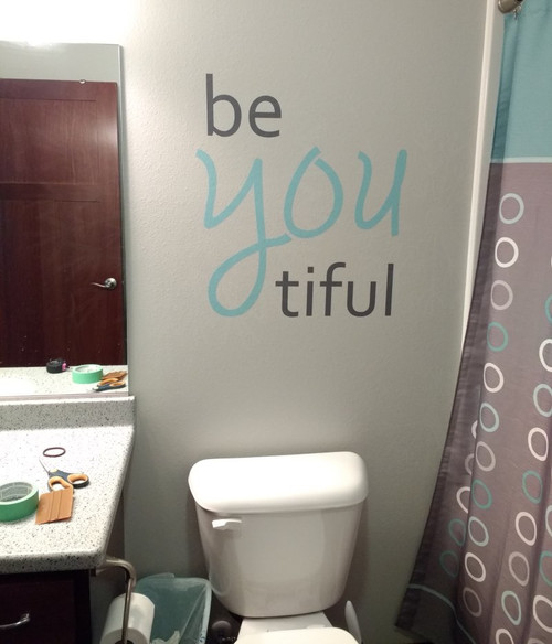 Be You Tiful Girls Vinyl Lettering Decals Inspirational Bathroom