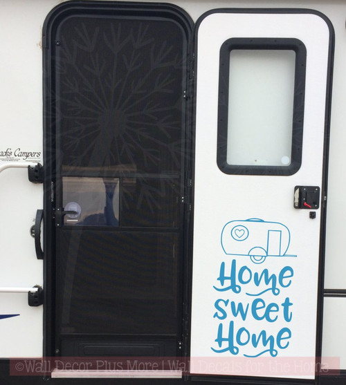 Camper Home Sweet Home Vinyl Letters Stickers RV Wall Quote Decals OUTDOOR USE