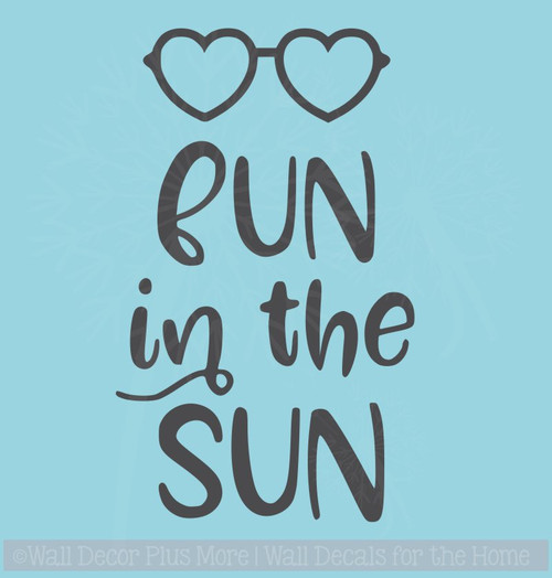 Fun in the Sun Summer Wall Sticker Quotes Vinyl Lettering Wall Decals