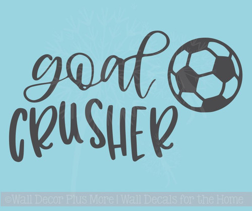 Goal Crusher Vinyl Letters Soccer Wall Stickers Sports Bedroom Decor