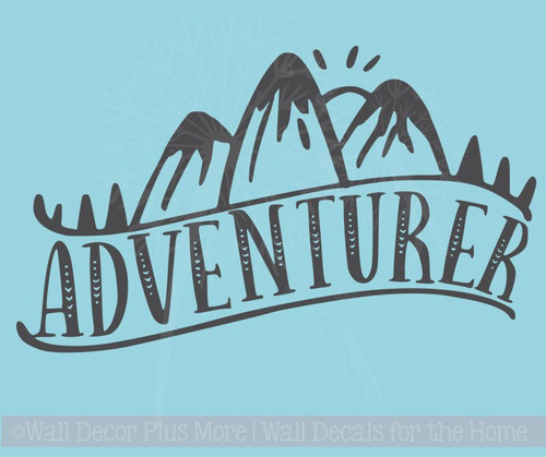 Adventurer Vinyl Art Stickers Nature Lover Wall Décor Camper Decal Quotes
