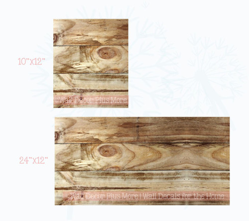 Printed Knotty Oak Wood Grain Vinyl Sticker Self-Adhesive Liner or Wall Art