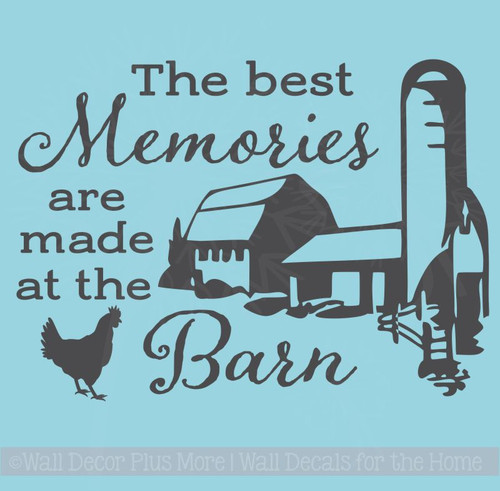 Best Memories Made In Barn Vinyl Art Decals Farm Wall Decor Quote