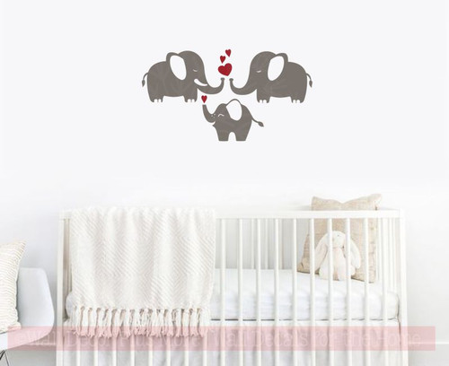 elephant family vinyl art decals wall stickers for baby nursery decor