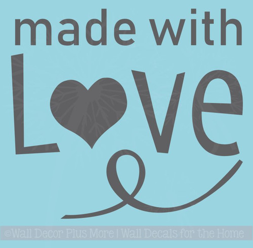 Made With Love Instant Pot Decal Vinyl Stickers for Kitchen Appliances