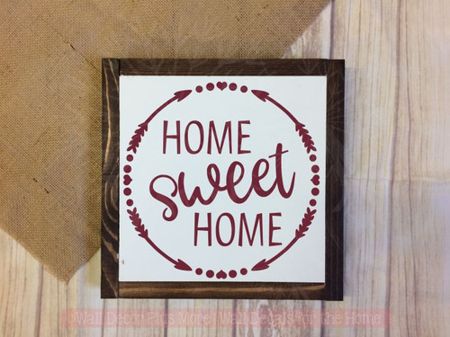 Home Sweet Home Kitchen Wall Art Stickers Vinyl Letter Home Décor Decals-Burgundy