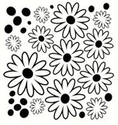 Flower Dot Floral Wall Decal Girls Room Decor Vinyl Decal