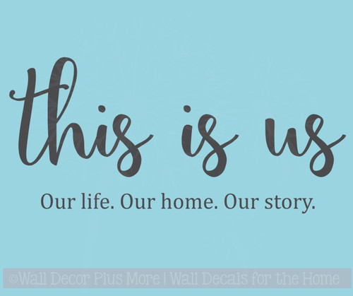 This Is Us Kitchen Wall Decals Vinyl Lettering Stickers for Home Decor