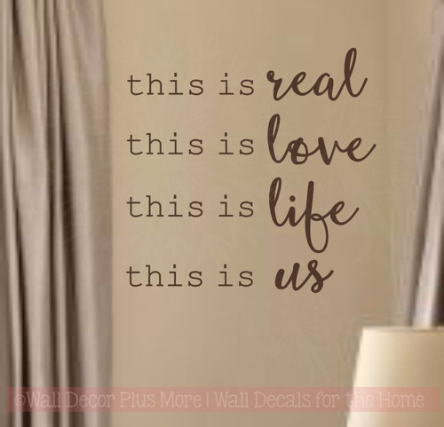 This Is Real This Is Us Home Decor Wall Decal Stickers Bedroom Quotes