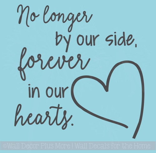 Forever In Our Hearts Memorial Quote Family Wall Art Stickers Vinyl Decals