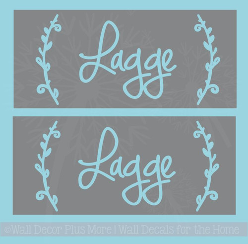 Etching Stencil Last Name Laurels Personalized Vinyl Decals for Gifts