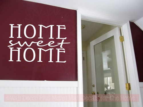 Home Sweet Home Kitchen Wall Stickers Vinyl Lettering Decals Home Decor-White