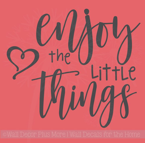 Enjoy The Little Things Wall Art Stickers Motivational Vinyl Quotes