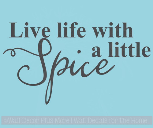 Live Life With Spice Lettering Quotes Vinyl Wall Decals Sticker