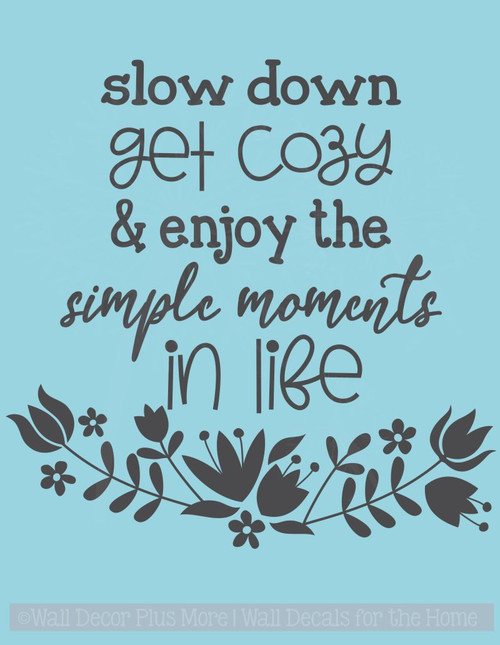 Enjoy Simple Moments In Life Wall Art Stickers Inspiring Vinyl Decals