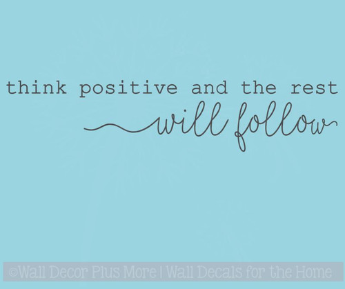 Think Positive Vinyl Lettering Decals Daycare Motivational Wall Quotes