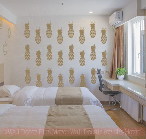 Pineapple Set of 24 Girls Bedroom Decor Wall Art Stickers Vinyl Decals