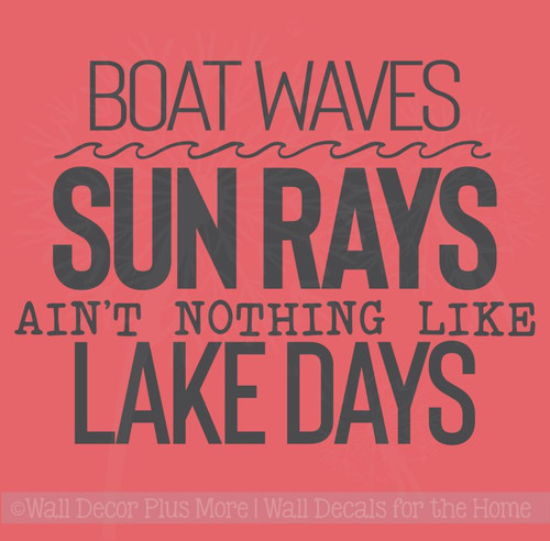 Lake Days Summer Quote Vinyl Lettering Decals Camper Wall Art Stickers