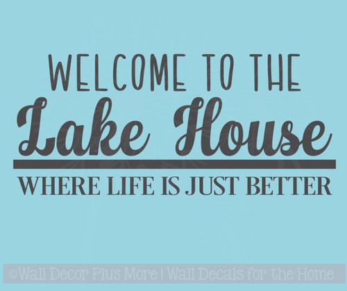 Lake House Vinyl Lettering Decals Wall Sticker Quotes Beach Home Decor