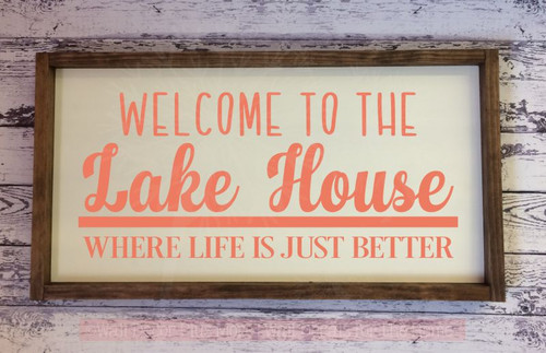 Lake House Vinyl Lettering Decals Wall Sticker Quotes Beach Home Decor-Coral