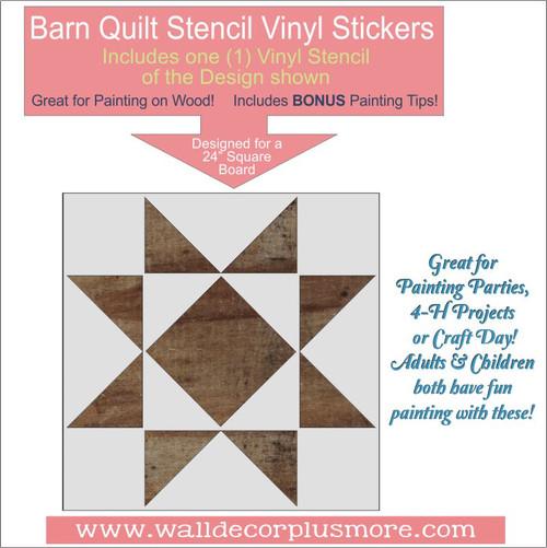 Barn Quilt Stencil Farmhouse Home Decor DIY Wood Art Project