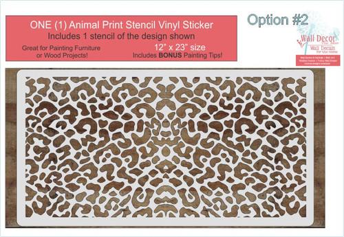 Leopard Animal Pattern for Stencil DIY Wood Home Decor Vinyl Art Stickers