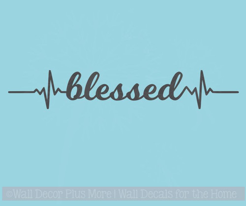 Blessed Heartbeat Nurse Decor Wall Art Decals Vinyl Lettering Stickers