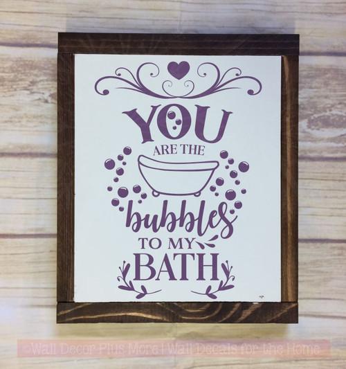 Bubbles To My Bath Decor Quotes Vinyl Art Decals Home Decor Stickers-Plum