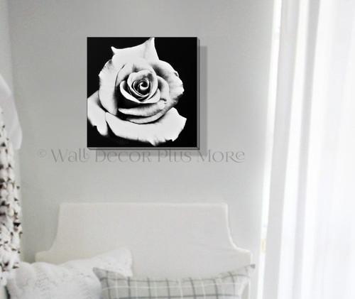 Remarkable Black White Rose Modern Art Canvas Print Bathroom Wall Decor Download Free Architecture Designs Lukepmadebymaigaardcom