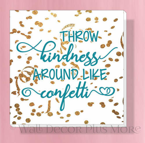 Throw Happiness Confetti Inspirational Canvas Print Modern Art Wall Decor