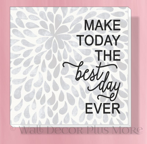 Best Day Ever Canvas Wall Art Print Inspirational Easy to Hang Wall Decor