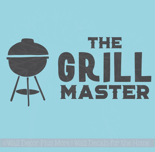 Grill Master Vinyl Decals Summer Quote Wall Stickers Father's Day Gift