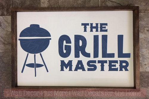 Grill Master Vinyl Decals Summer Quote Wall Stickers Father's Day Gift-Deep Blue