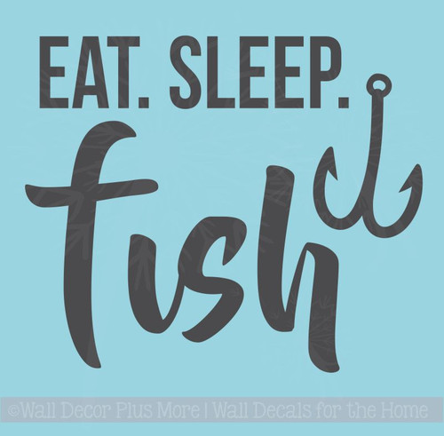 Eat Sleep Fish Fishing Car Decals Fisherman Window Sticker  Vinyl Quote